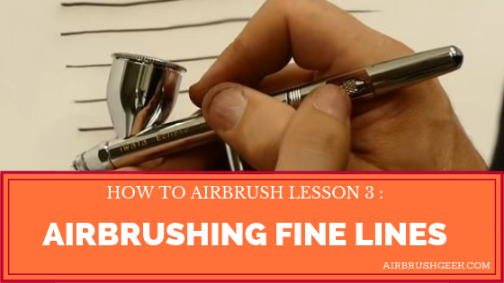 How to airbrush thin lines
